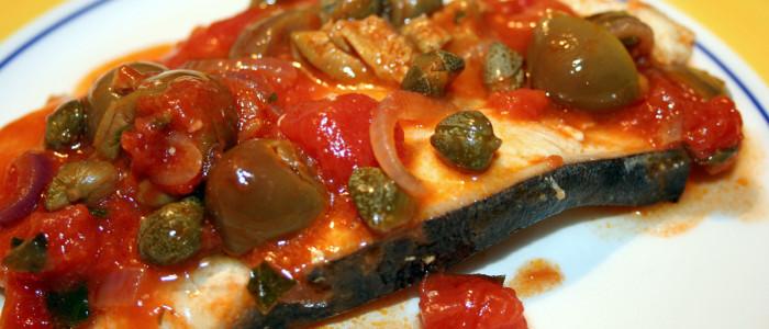 Video Tutorial: Pesce Spada alla siciliana con capperi e olive